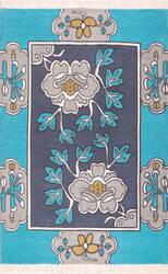 Nuloom Elanor Floral Tassel Navy Area Rug