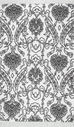 Nuloom Isobel Floral Tassel Navy Area Rug