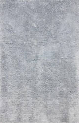 Nuloom Hand Tufted Maginifique Shag Light Grey Area Rug