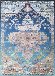 Nuloom Terrell Floral Medallion Blue Area Rug