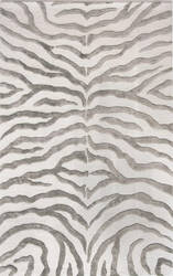 Nuloom Hand Tufted Plush Zebra Grey Area Rug