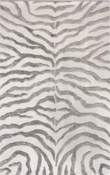 Nuloom Hand Tufted Plush Zebra Grey Area Rug