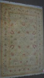 ORG 16/18 Antiqued V-1643 Ivory - Rust Area Rug