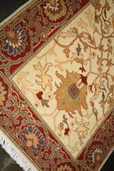 ORG Ziegler Mahal Ivory - Red Area Rug