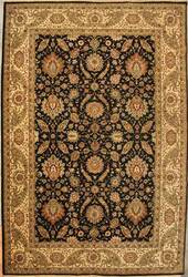 ORG Jaipur OM-1 Black-Gold Area Rug