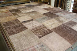 ORG Patchwork Over-Dye Chocolate Area Rug