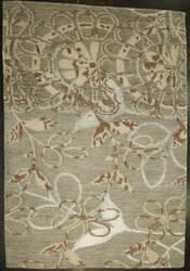 ORG Premium Tibetan Khallo 873* 107 Silk Sam 1931 Ook Green Area Rug