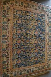 ORG Antique Repro Floral Blue - Rust Area Rug