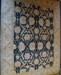 ORG Peshawar Ult-181 Black And Gold Area Rug