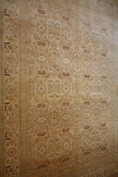 ORG 16/18 Antiqued V-1628 Sand - Red Area Rug