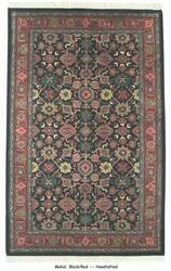 ORG Handtufted Mahal Black/Red Area Rug