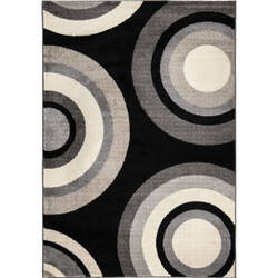 Orian American Heritage Roundtree Black Area Rug