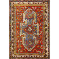 Orian Transitions Cambria Red Area Rug
