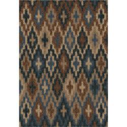 Orian Majestic Shag Lorcan Blue Area Rug