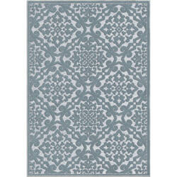 Orian Boucle Lansing Harbor Blue Area Rug