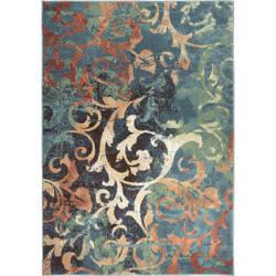 Orian Spoleto Watercolor Scroll Multi Area Rug