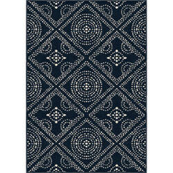 Orian Farmhouse Camille Catalina Blue Area Rug