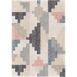 Orian Grand Tapis Deco Lines Soft White Area Rug