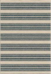 Orian Veranda Stripe Admiral Blue Area Rug