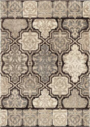 Orian Wild Weave Modern Tile Black Area Rug