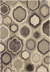 Orian Epiphany Pannel Silver Area Rug