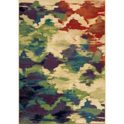 Orian Mardi Gras Watercolor Trellis Multi Area Rug