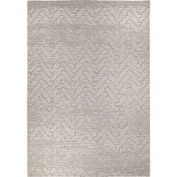 Orian Breeze Herringbone Patio Arctic Ivory Area Rug