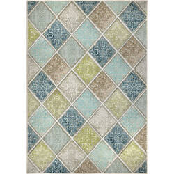 Orian Transitions Floral Tile Mineral Area Rug