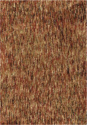 Orian Super Shag Multi Solid Red Texture Area Rug