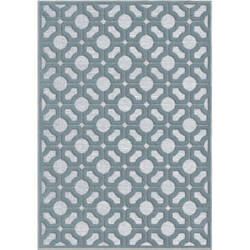 Orian Boucle Huron Harbor Blue Area Rug