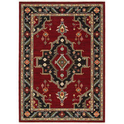 Oriental Weavers Lilihan 092r6 Red - Black Area Rug