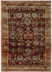 Oriental Weavers Andorra 7154a Red Area Rug