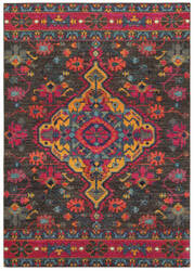 Oriental Weavers Bohemian 8222d Charcoal - Pink Area Rug