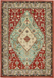 Oriental Weavers Dawson 8315a Rust - Blue Area Rug