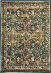 Oriental Weavers Dawson 8527a Teal - Brown Area Rug