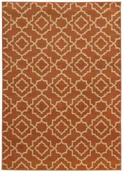 Oriental Weavers Ella 5185f Orange / Beige Area Rug
