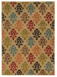 Oriental Weavers Emerson 4883b Tan/Multi Area Rug