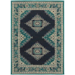 Oriental Weavers Highlands 6658a Blue Area Rug