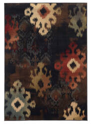 Oriental Weavers Hudson 4874b Black Area Rug