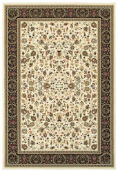 Oriental Weavers Kashan 108x Ivory - Black Area Rug