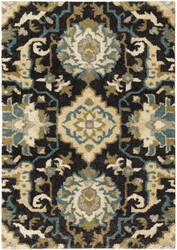 Oriental Weavers Kendall 001n1 Black - Blue Area Rug
