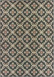 Oriental Weavers Latitude 1904k Grey - Orange Area Rug
