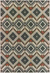 Oriental Weavers Latitude 002x3 Grey - Orange Area Rug