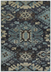 Oriental Weavers Linden 4302a Navy - Blue Area Rug