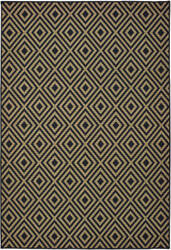 Oriental Weavers Marina 2335k Black - Tan Area Rug