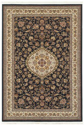 Oriental Weavers Masterpiece 33b Black - Ivory Area Rug