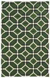 PANTONE UNIVERSE Matrix 4722b Green/ Ivory Area Rug