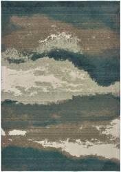 Oriental Weavers Montage 1801b Blue - Ivory Area Rug
