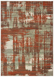 Oriental Weavers Montage 5990z Grey - Rust Area Rug