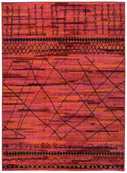 Oriental Weavers Nomad 633r5 Orange / Pink Area Rug